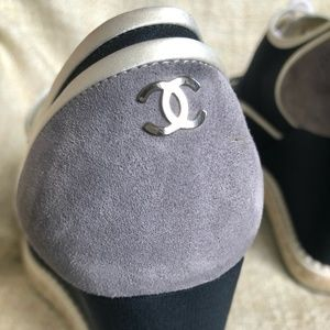 Authentic CHANEL Silk & Suede Calfskin shoes